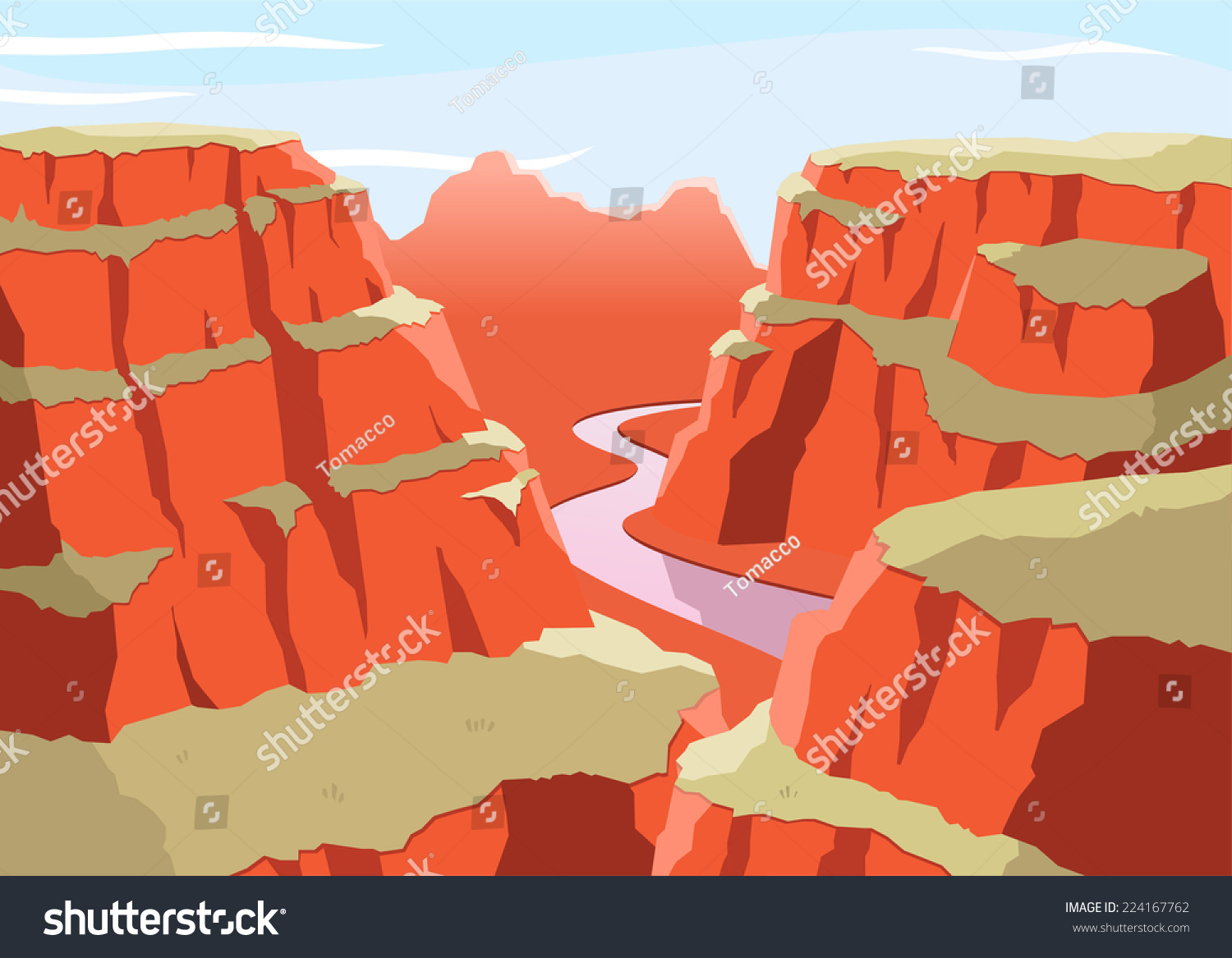 hight resolution of grand canyon national park arizona united states colorado plateau seven natural wonders vector illustration cartoon