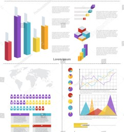 graph set finance diagram infographic icon financial business chart flat vector illustration [ 1017 x 1600 Pixel ]