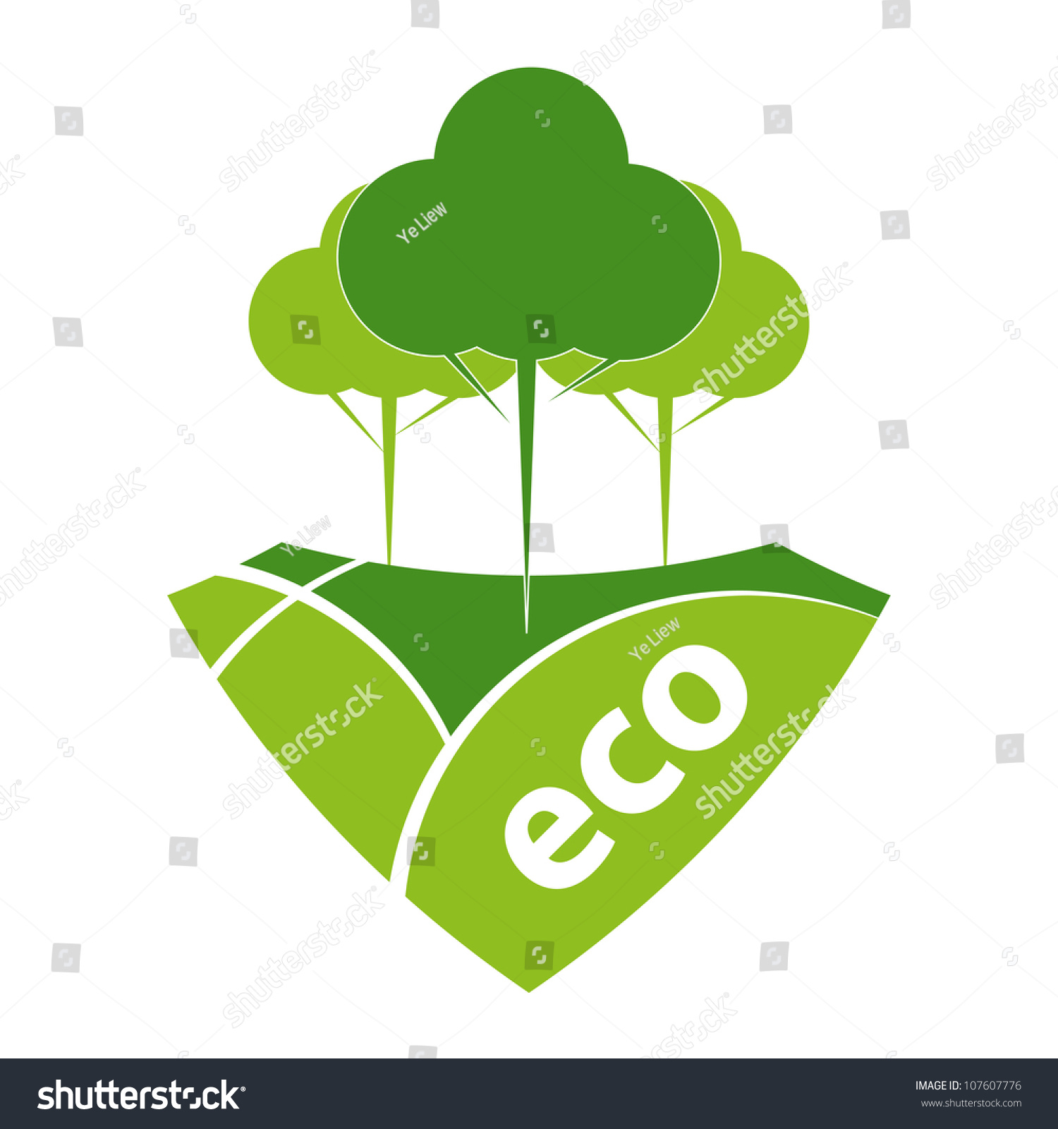hight resolution of green eco reforestation concept green forest and pasture