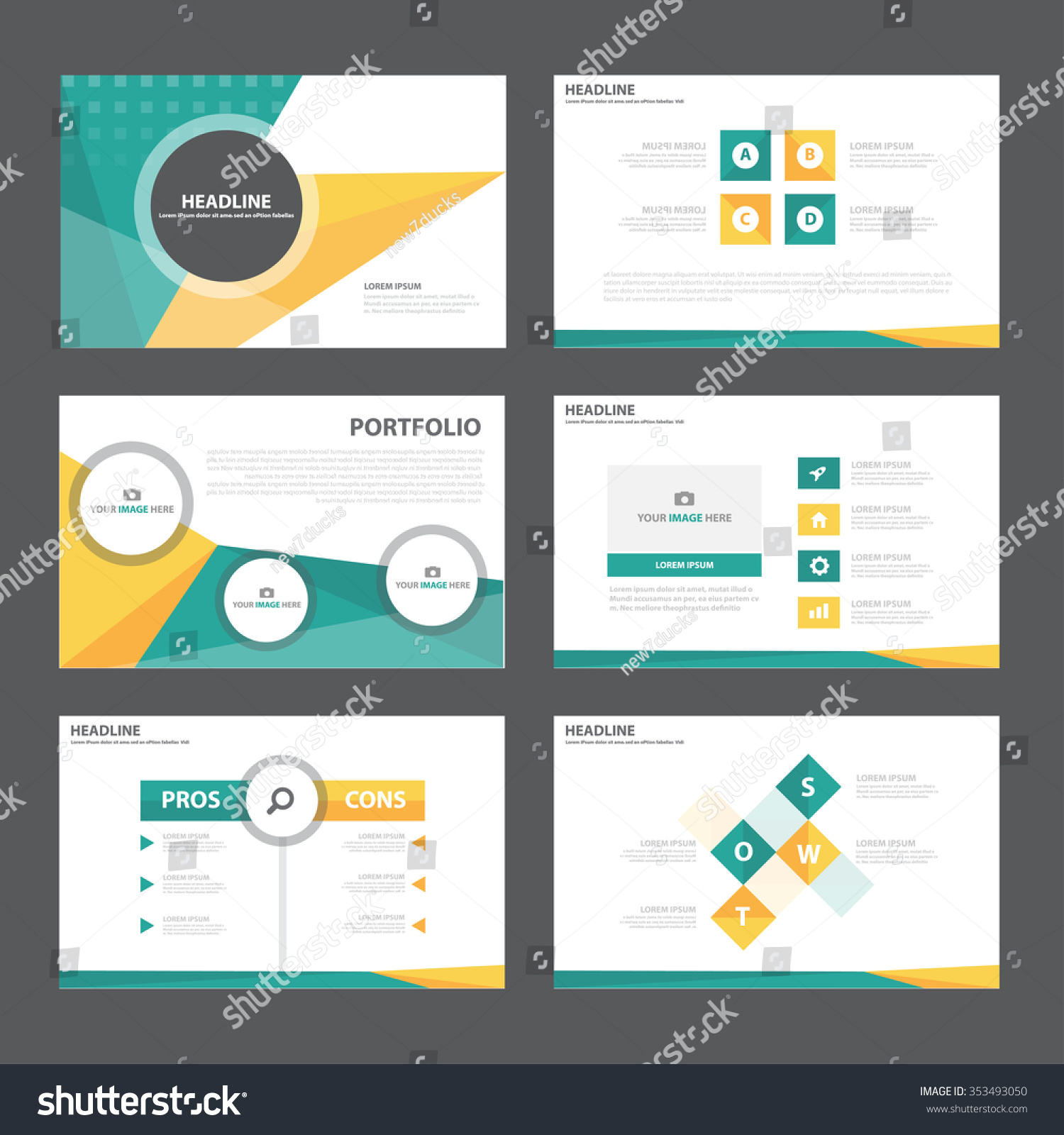 Green Orange Presentation Template Infographic Elements