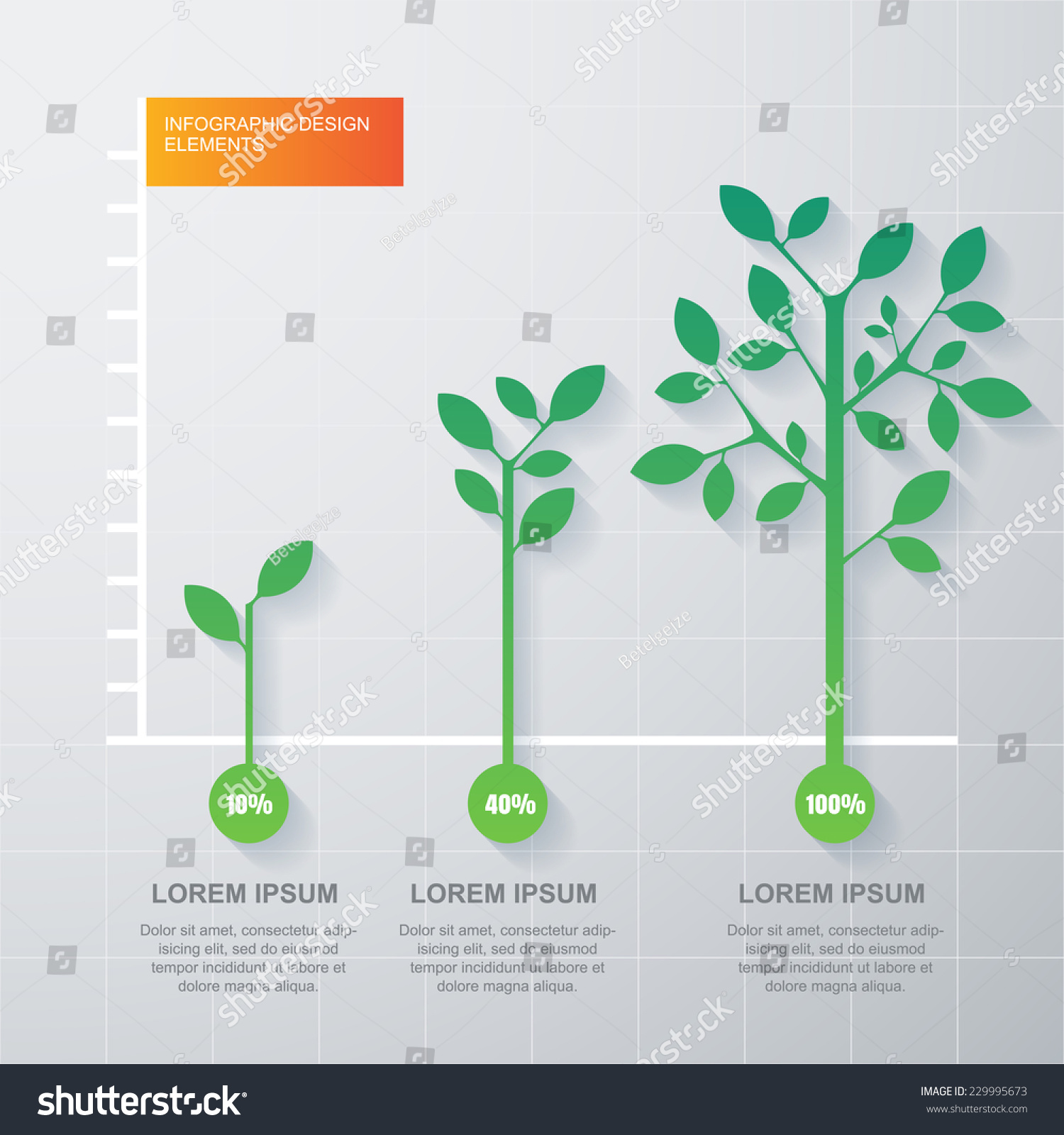 shrub graphic symbols diagram poulan lawn mower parts green tree plant infographics template stock