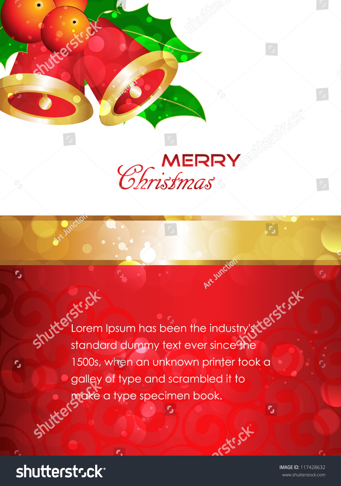 Greetings For Merry Christmas With Beautiful Red