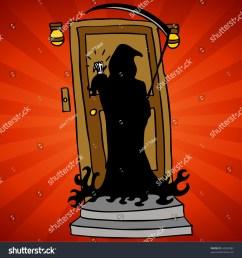 grim reaper knocking [ 1500 x 1600 Pixel ]