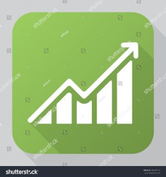 growing graph icon vector solid illustration pictogram isolated on gray long shadow [ 1500 x 1600 Pixel ]