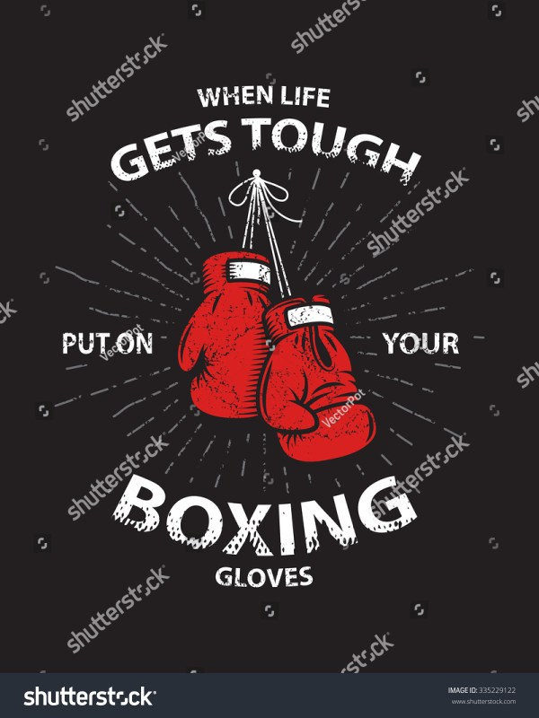 Grunge Boxing Motivation Poster And Print With Boxing