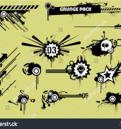 grunge clipart pack [ 1500 x 1225 Pixel ]