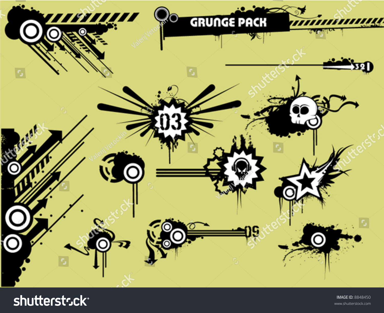 hight resolution of grunge clipart pack