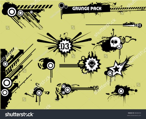 small resolution of grunge clipart pack