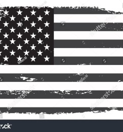 grunge usa flag vintage black and white american flag vector  [ 1500 x 1059 Pixel ]