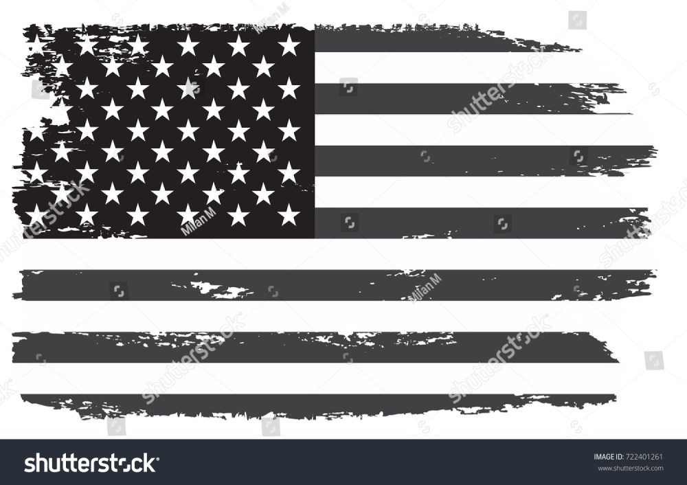medium resolution of grunge usa flag vintage black and white american flag vector