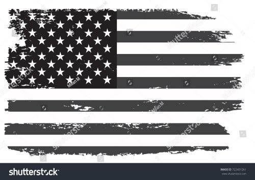 small resolution of grunge usa flag vintage black and white american flag vector