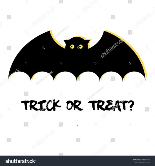 small resolution of halloween clipart scary bat for celebration trick or treat cartoonish bat picture with text
