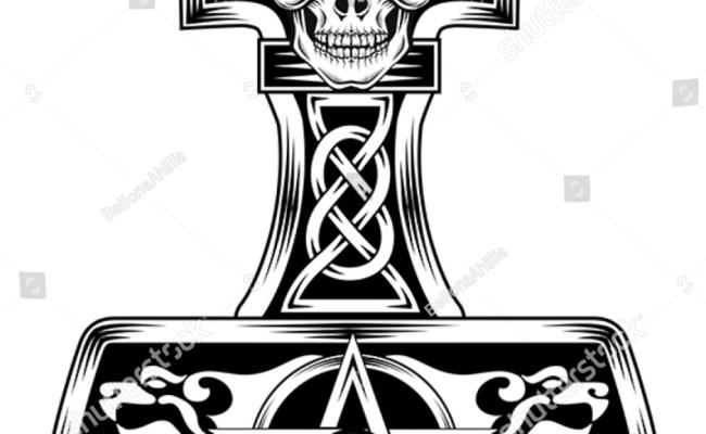 Hammer Thor Medieval Viking Symbol Stock Vector 284045135