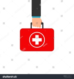 hand holding first aid box clipart image isolated on white background  [ 1500 x 1600 Pixel ]