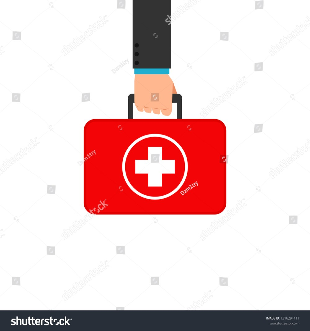 medium resolution of hand holding first aid box clipart image isolated on white background