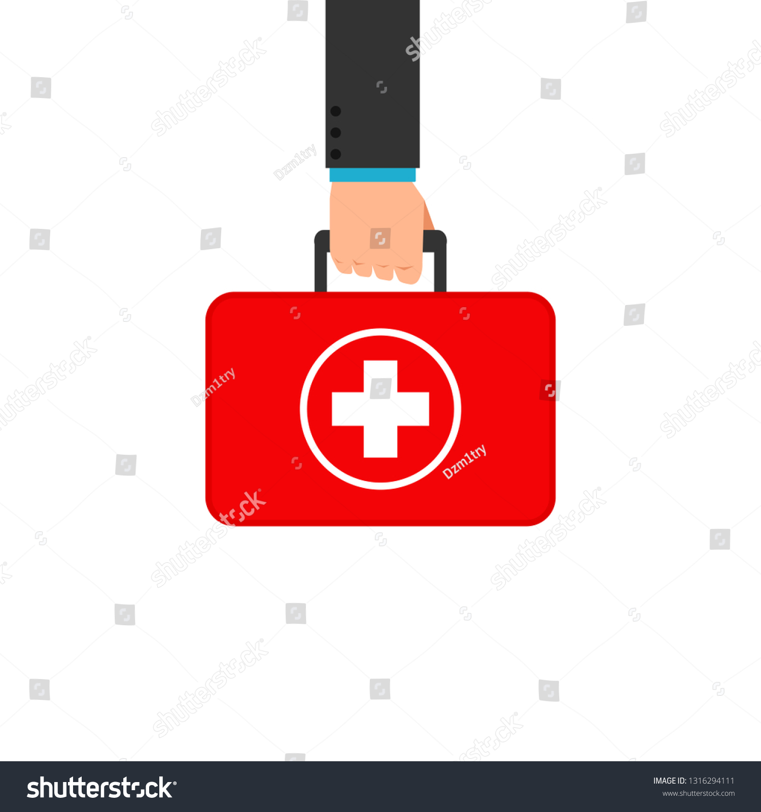 hight resolution of hand holding first aid box clipart image isolated on white background