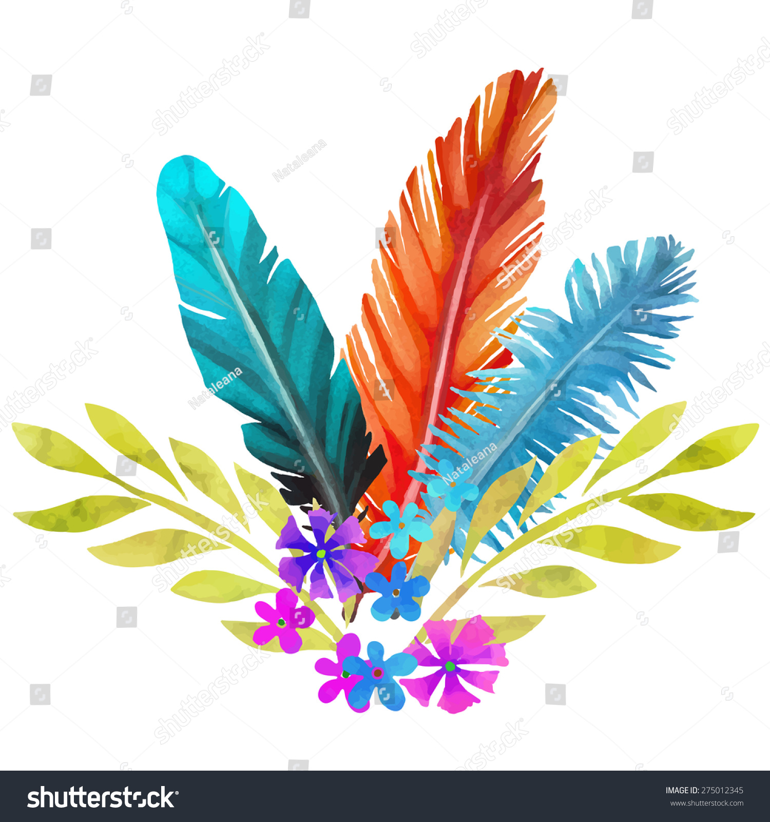 Turkey Feathers To Print And Color