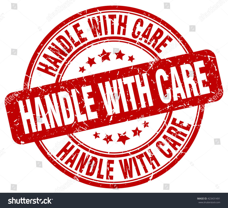 Handle Care Stamp Stock Vector 423431491 - Shutterstock