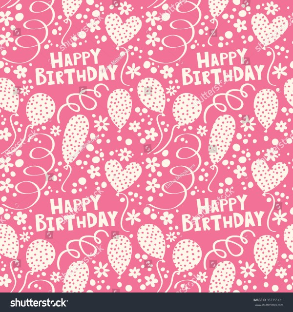 happy birthday pattern balloons