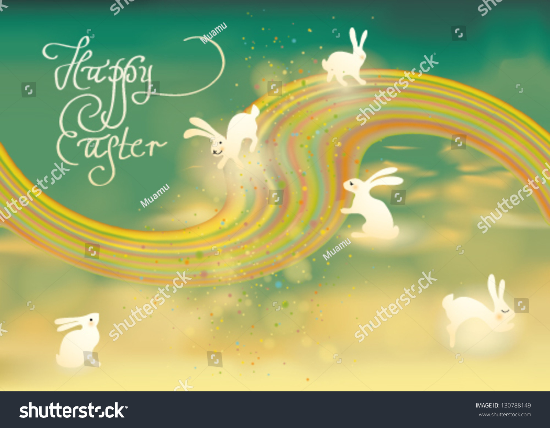 happy easter adorable bunnies