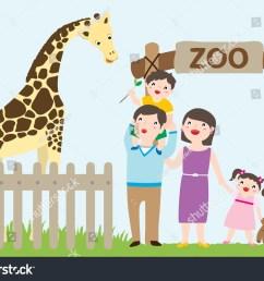 happy family visiting zoo giraffe [ 1500 x 1162 Pixel ]