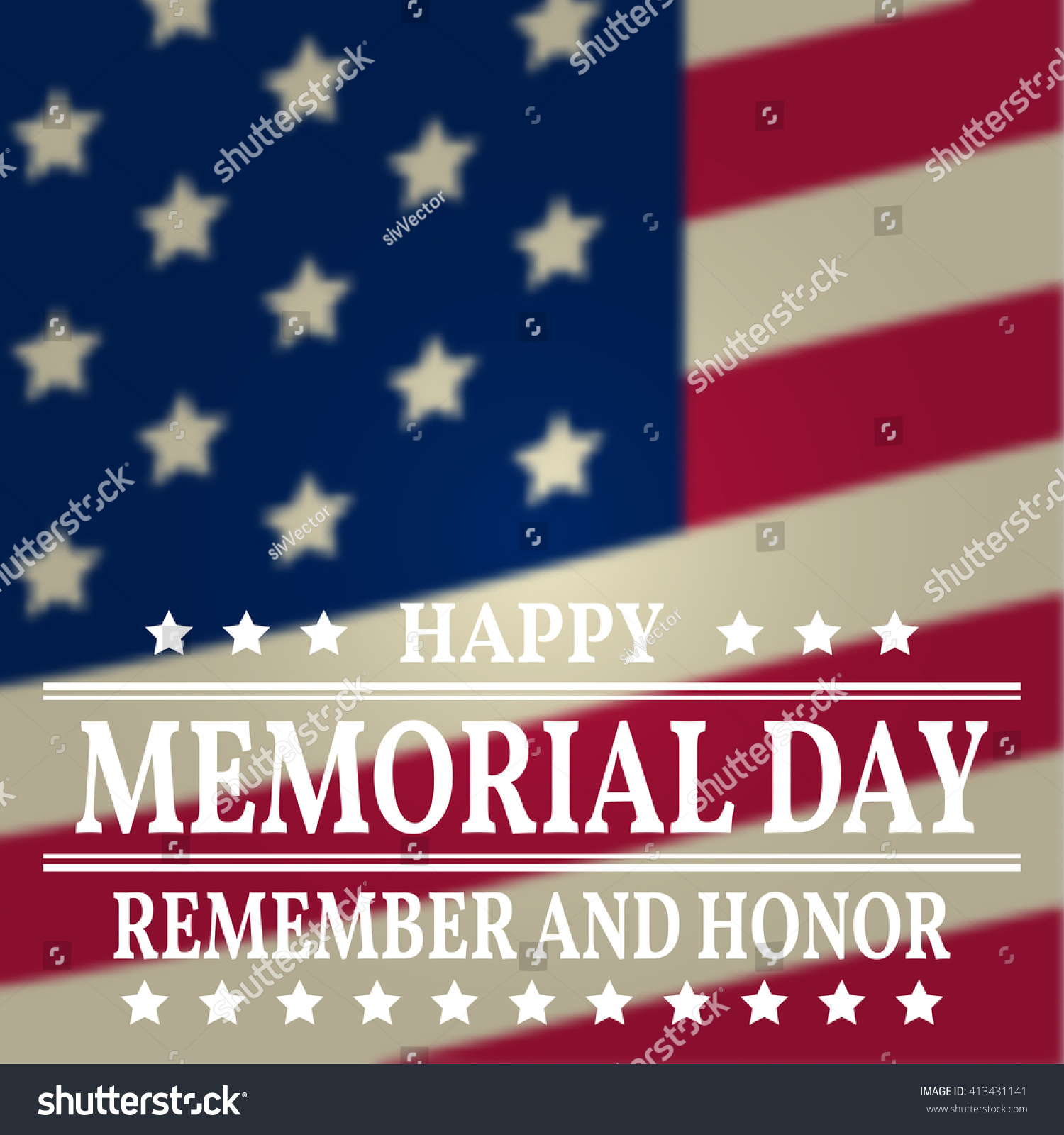 Happy Memorial Day Greeting Card Vector Stock Vector