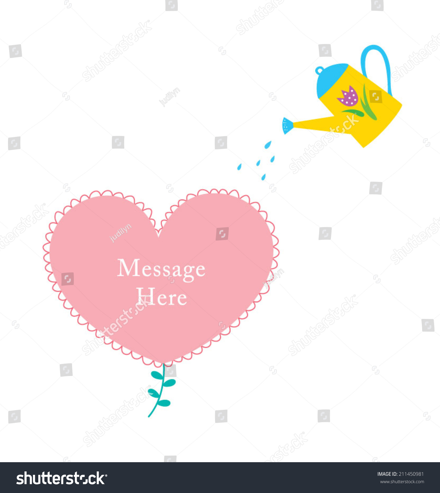 hight resolution of happy watering can plant love flower stock vector royalty free diagram of love flower