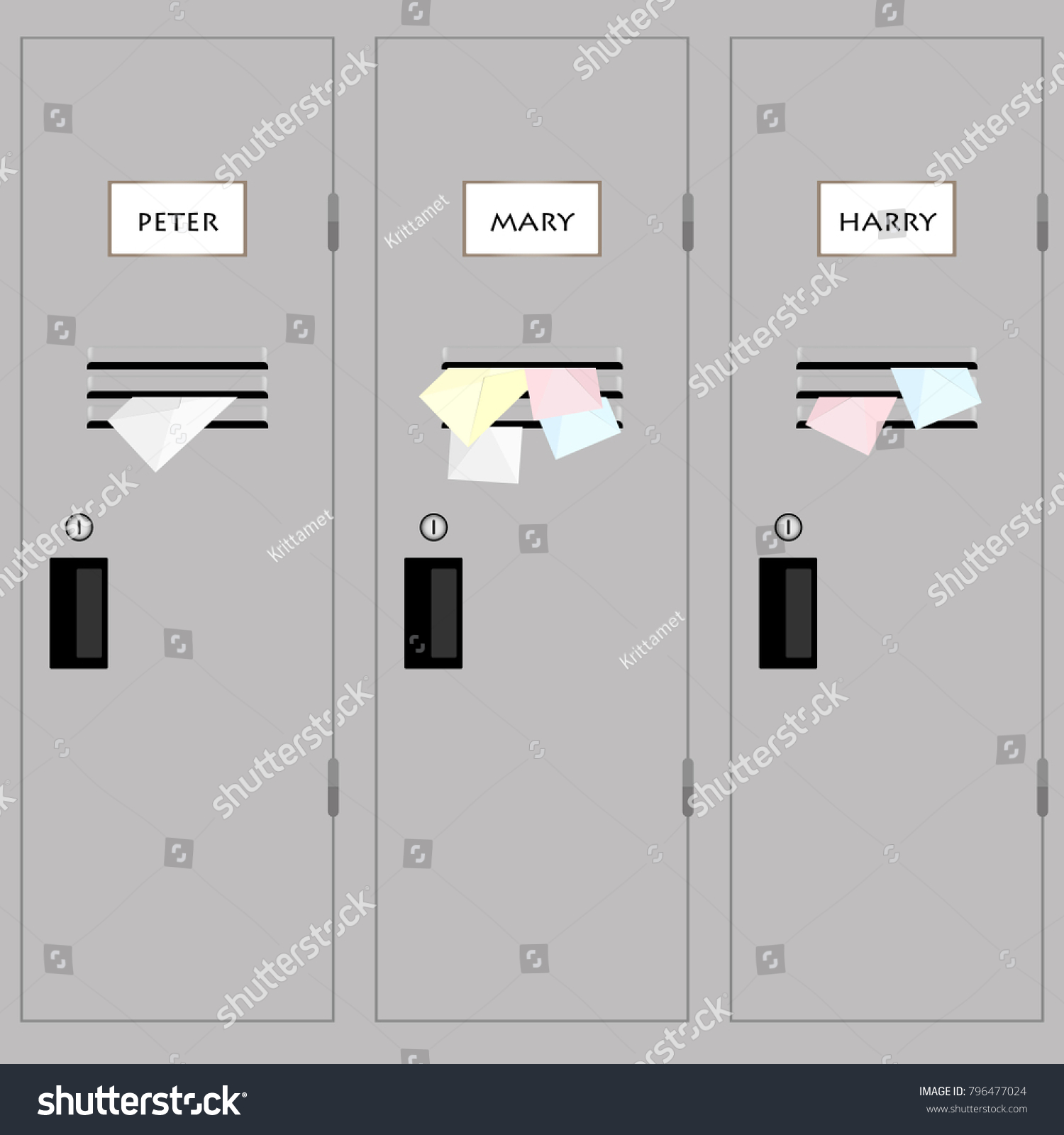 hight resolution of have a love letter in the school locker vector