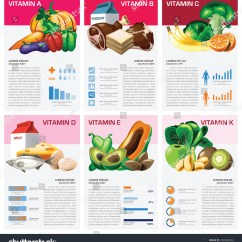 Healthy Food Diagram Animal Cell Coloring Health Medical Vitamin Chart Infographic Stock