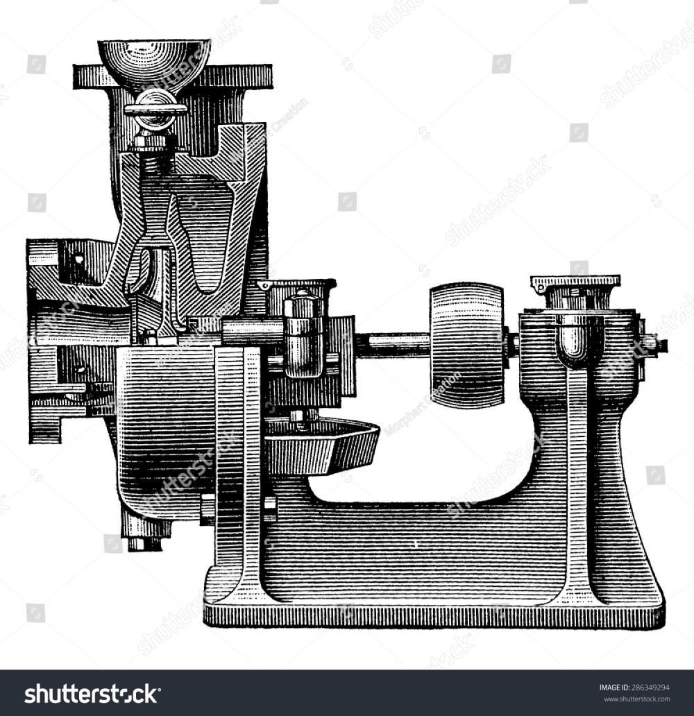 medium resolution of heart centrifugal pump vintage engraved illustration industrial encyclopedia e o lami 1875