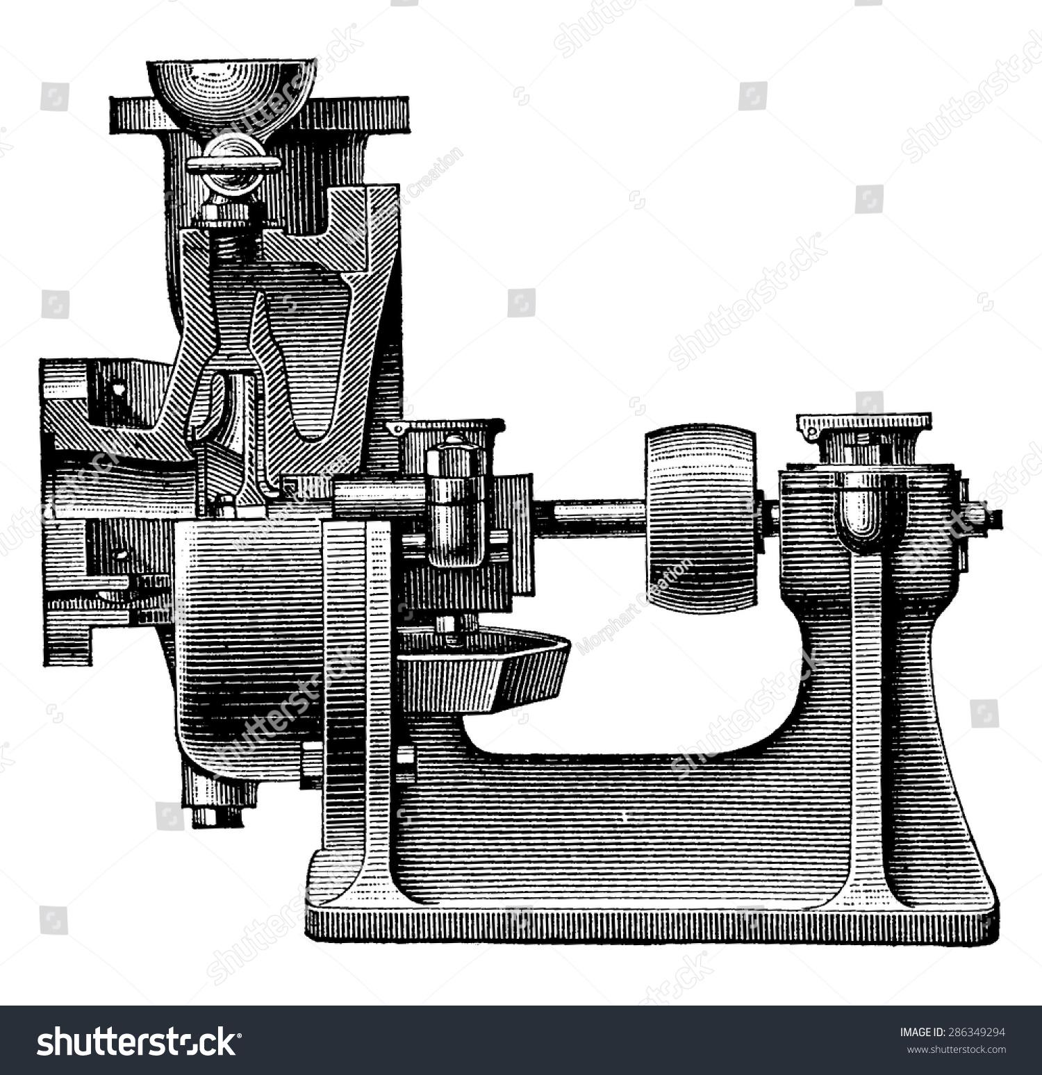 hight resolution of heart centrifugal pump vintage engraved illustration industrial encyclopedia e o lami 1875