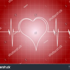 Heart Diagram Outside White Rodgers Thermostat Wiring 1f79 With Line Stock Vector Illustration