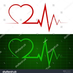 Heart Beat Diagram 2001 Dodge Radio Wiring Heartbeat Ekg Ecg Rate Monitor Stock Vector