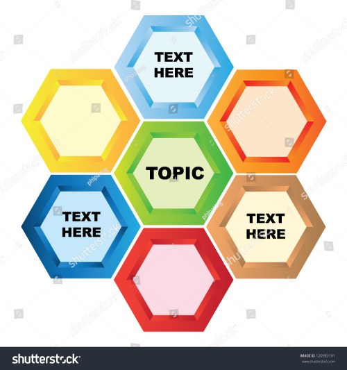 small resolution of hexagon diagram presentation template