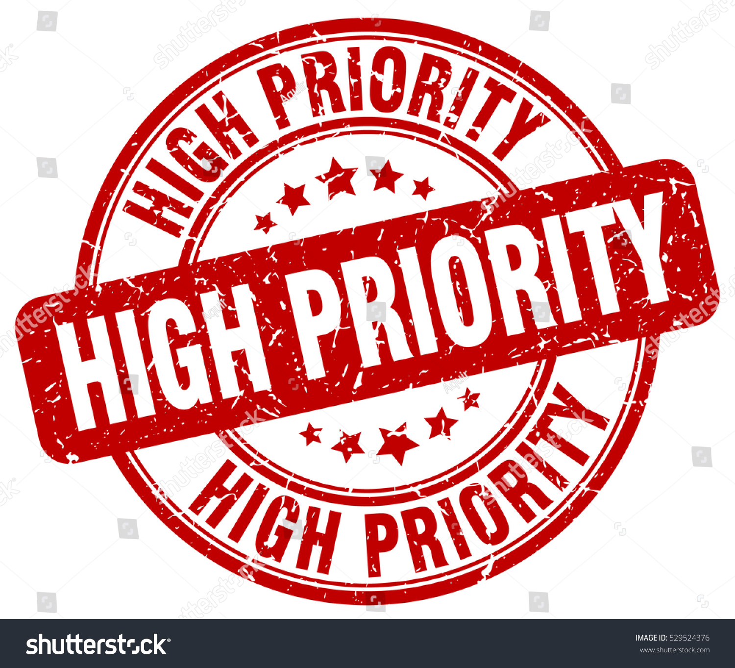 High Priority. Stamp. Red Round Grunge Vintage High Priority Sign Stock Vector Illustration 529524376 : Shutterstock