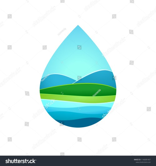 small resolution of hill and lake inside blue water frame