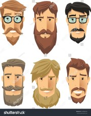 hipster men wearing cool beard