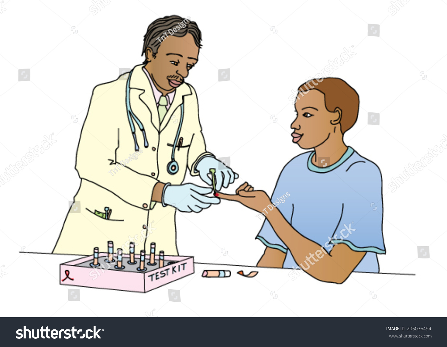Hivaids Awareness Campaign Featuring Doctor Taking Stock Vector