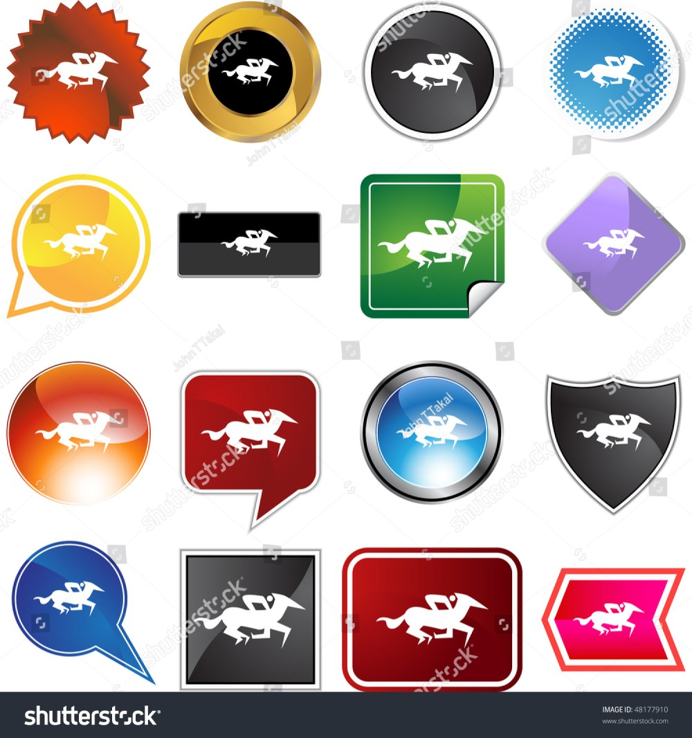 medium resolution of horse jockey stick figure isolated web icon on a background