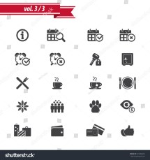 Hotel Amenities Icon Set 3 Stock Vector 231086359