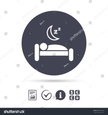 Hotel Apartment Sign Icon Travel Rest Stock Vector