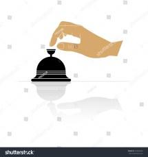 Hotel Bell Hand Icon Stock Vector 403636936 - Shutterstock