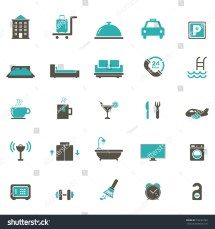 Hotel Icon - Color 158165783 Shutterstock