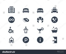 Hotel Icons Stock Vector 156783602 - Shutterstock