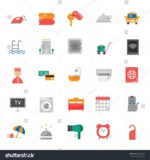 Hotel Services Set Vector Icons Stockvector 446532898