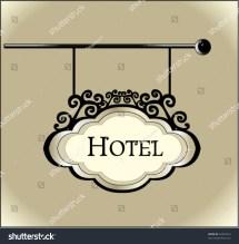 Vintage Hotel Sign Clip Art