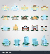 Hotels Icons Set Isolated Gray Stock Vector 143218180