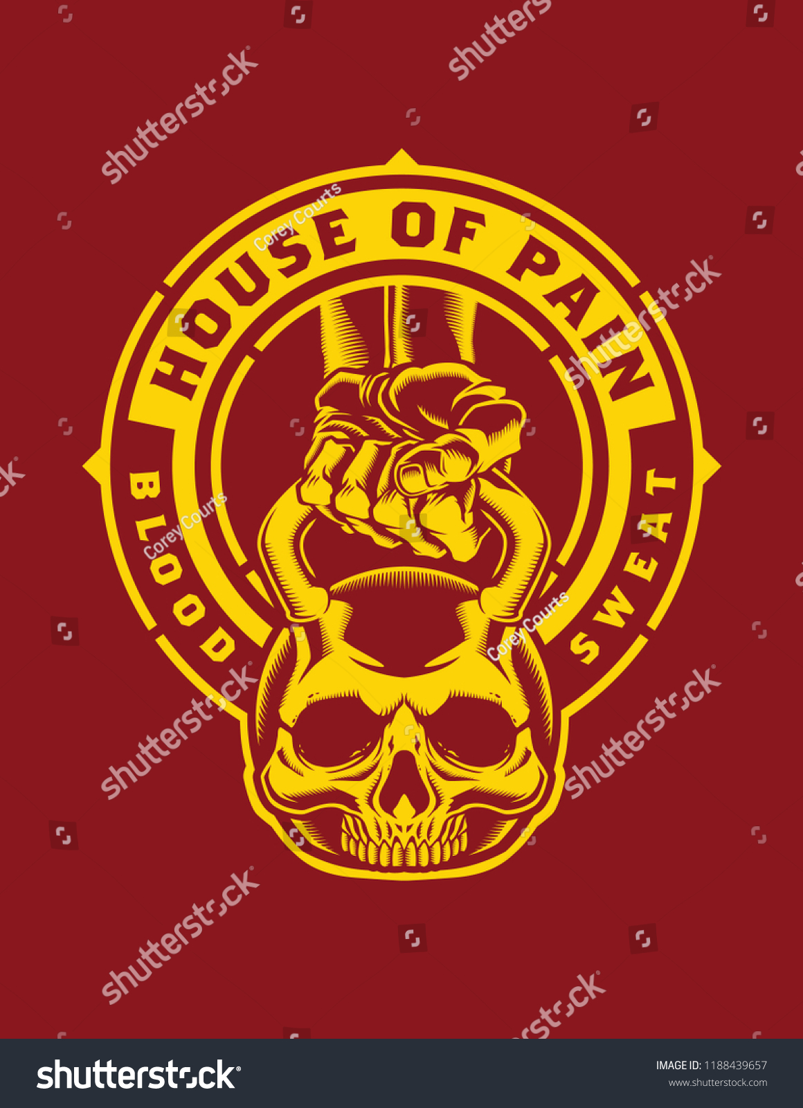 House Of Pain Logo : house, House, Stock, Vector, (Royalty, Free), 1188439657