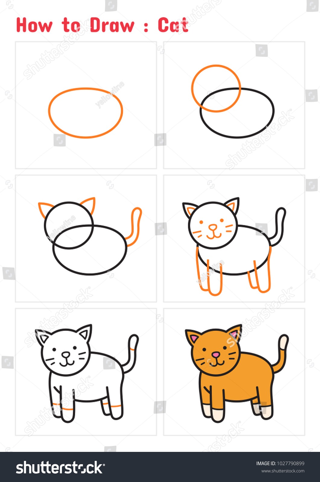 How To Draw A Cat For Kids Step By Step Cat S Blog