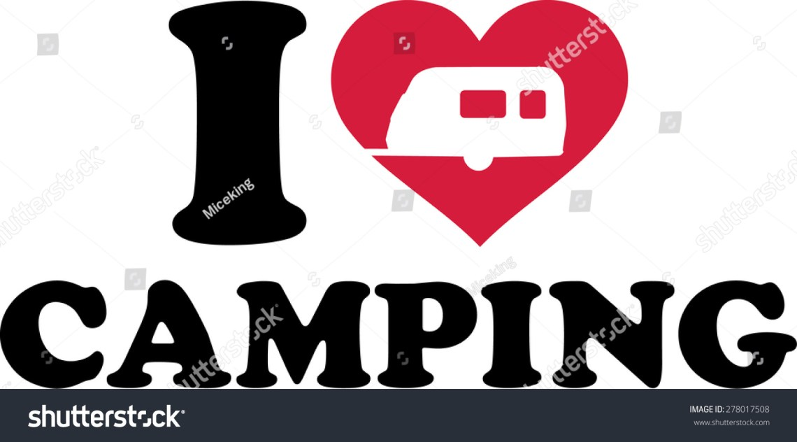 Download I Love Camping Stock Vector 278017508 : Shutterstock